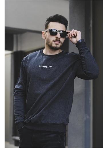 Oksit Lgg Brooklyn Pamuklu Erkek Sweatshirt Füme